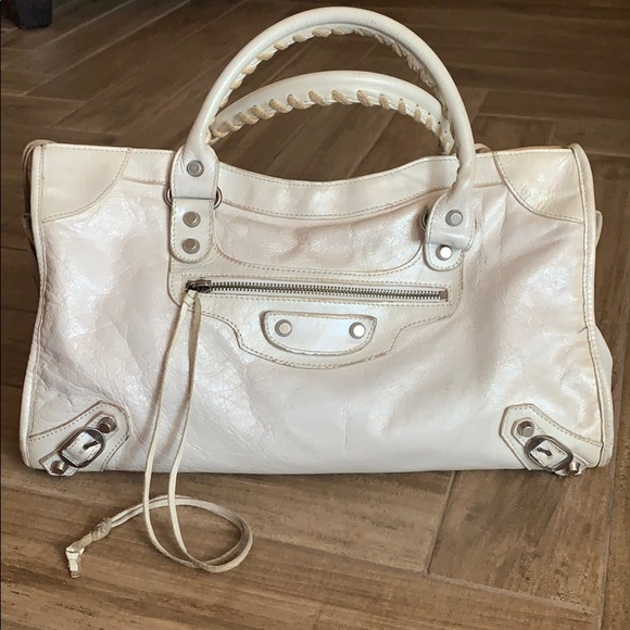 Balenciaga Handbags - Balenciaga White Purse